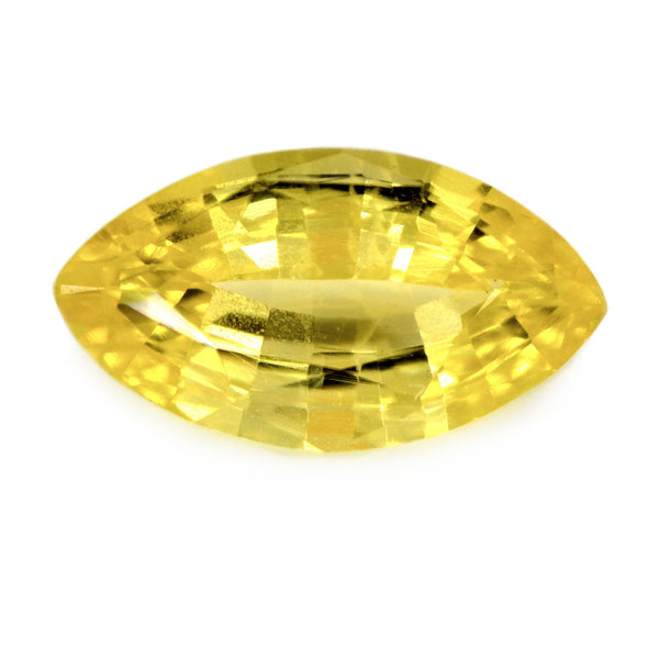 0.91ct Certified Natural Yellow Sapphire