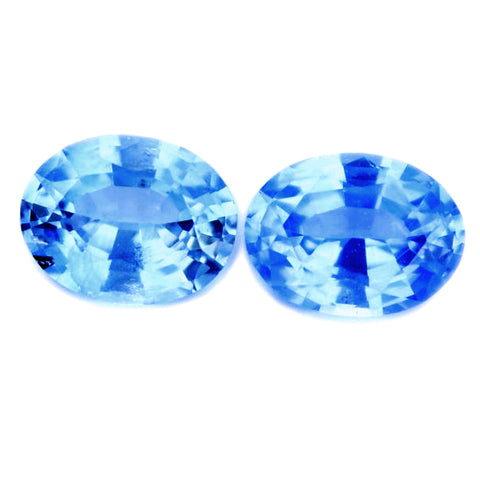 0.56 ct Certified Natural Blue Sapphire Pair