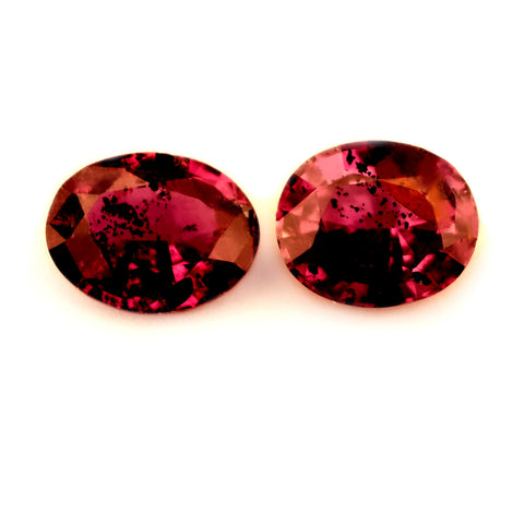 0.88ct Certified Natural Red Ruby Pair - sapphirebazaar - 1