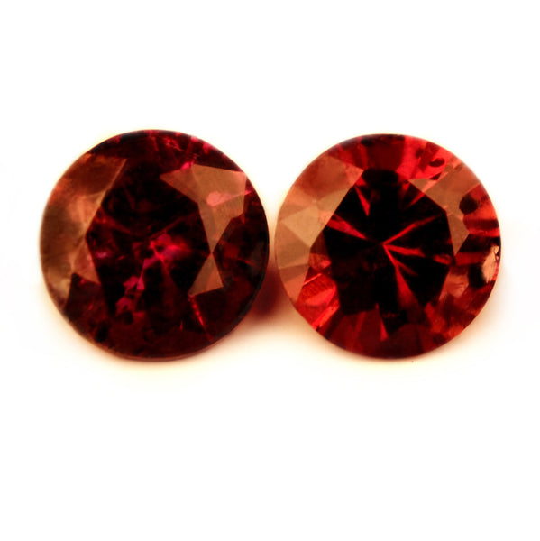 3.49 mm Certified Natural Red Ruby Pair - sapphirebazaar - 1