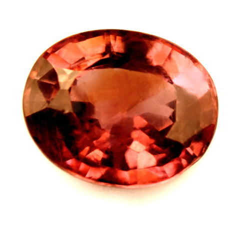 Certified Natural Unheated 1.02ct Padparadscha Sapphire, Oval Cut - sapphirebazaar - 1