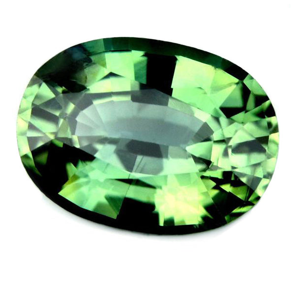 0.93ct Certified Natural Green Sapphire