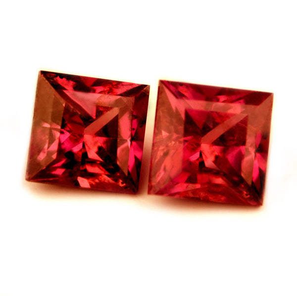 0.93 ct Certified Natural Red Ruby Pair - sapphirebazaar - 1