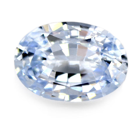 1.08 ct Certified Natural White Sapphire