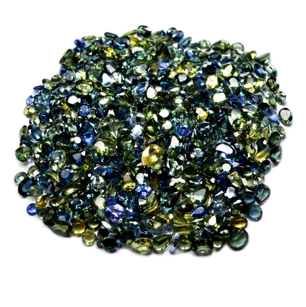247.6ct Certified Natural Multicolor Sapphire Parcel