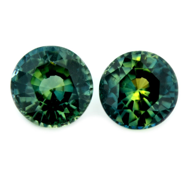 1.02 ct Certified Natural Multicolor Sapphire Pair