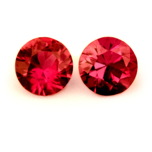 3.61 mm Certified Natural Ruby Pair - sapphirebazaar - 1
