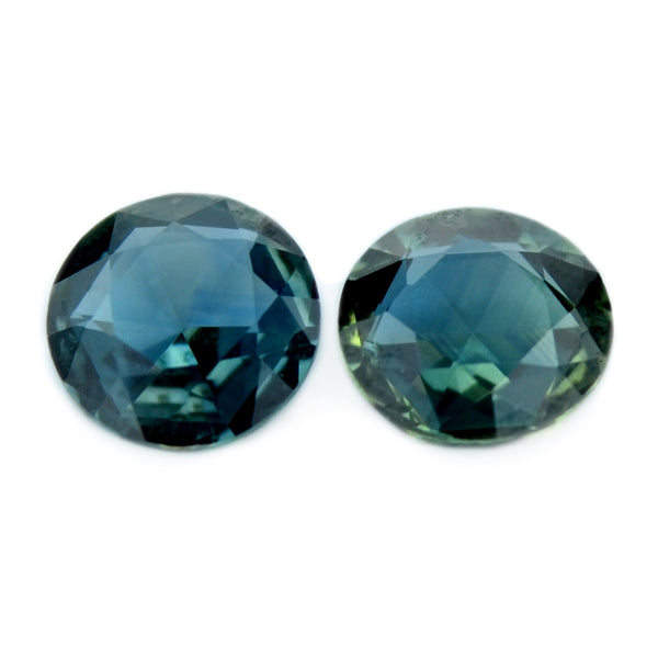 0.56 ct Certified Natural Teal Sapphire Pair