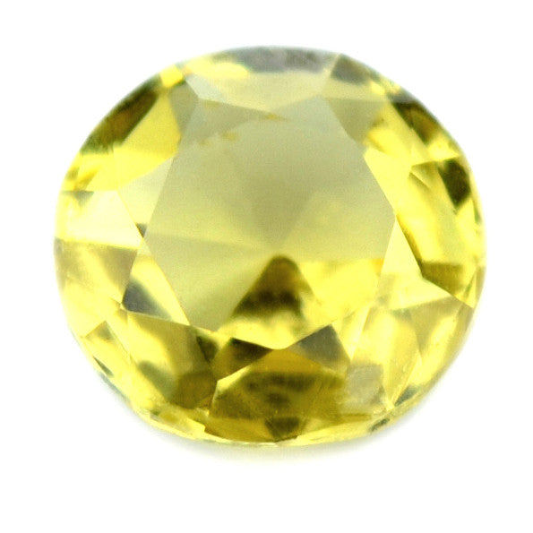 0.50 ct Certified Natural Yellow Sapphire