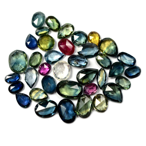 26.8ct Certified Natural Multicolor Sapphire Parcel