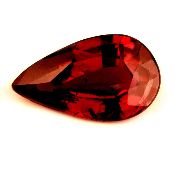 Certified Natural 0.98ct Untreated Vivid Royal Red Ruby, Pear Cut - sapphirebazaar - 1