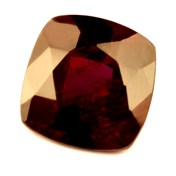 Certified Natural 1.33ct Untreated Royal Red Ruby, Cushion Cut - sapphirebazaar - 1