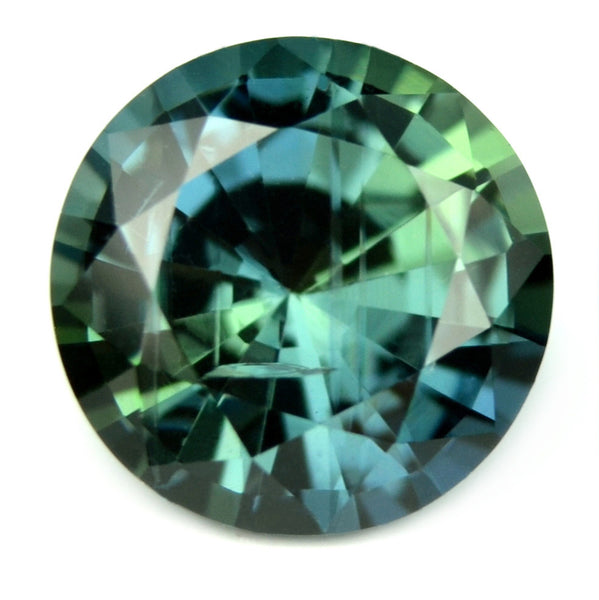 Certified Natural Unheated 0.91ct Greenish Blue Sapphire 5.9mm - sapphirebazaar - 1