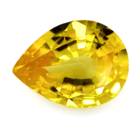 0.60 ct Certified Natural Yellow Sapphire