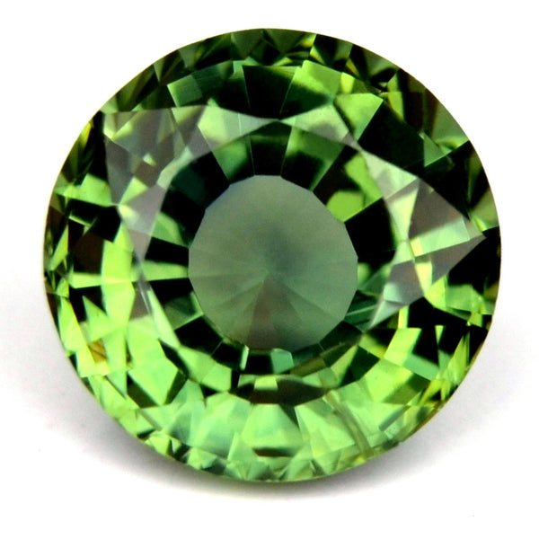 5.75 mm Certified Natural Green Sapphire - sapphirebazaar - 1