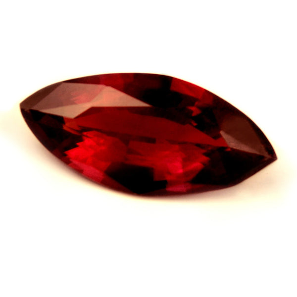Certified Natural Untreated Royal Red Ruby, 0.46ct VVS Clarity - sapphirebazaar - 1