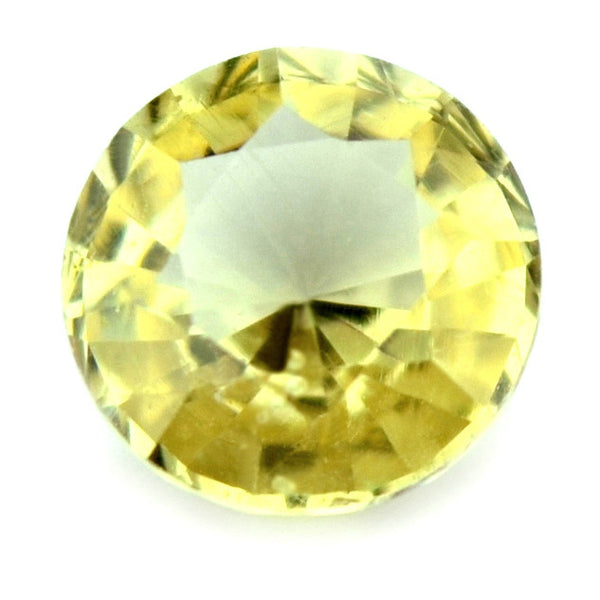 0.42 ct Certified Natural Yellow Sapphire