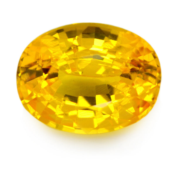 1.45 ct Certified Natural Yellow Sapphire