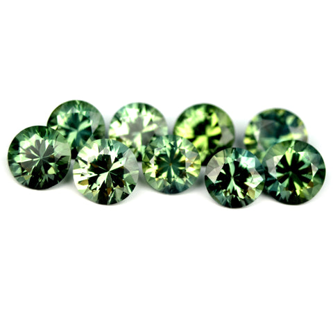 Certified Natural 3.95ct Matching Green Sapphires - sapphirebazaar - 1