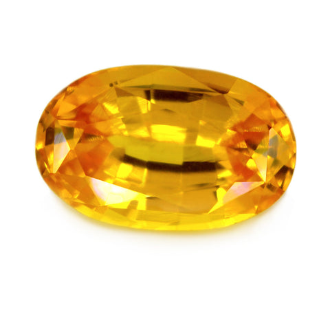 1.11 ct Certified Natural Yellow Sapphire