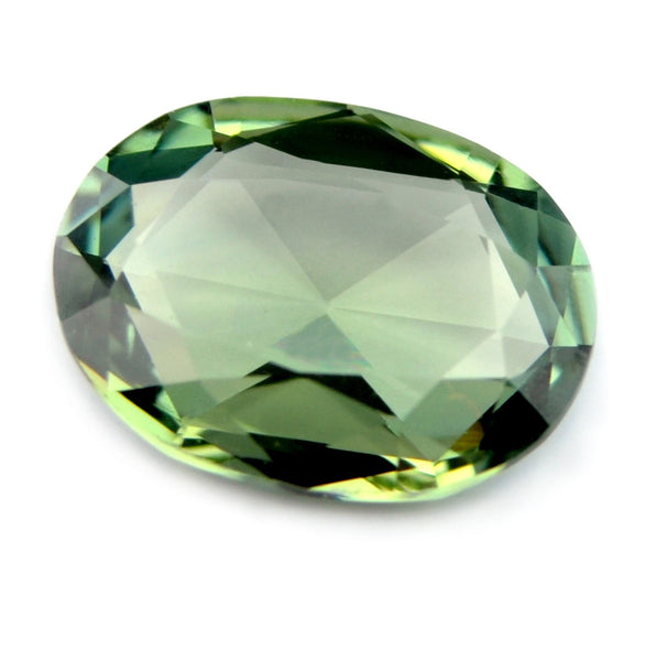 Certified Natural 0.71ct Rose Cut Green Sapphire - sapphirebazaar - 1