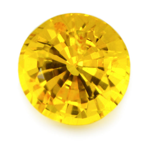 0.95 ct Certified Natural Yellow Sapphire