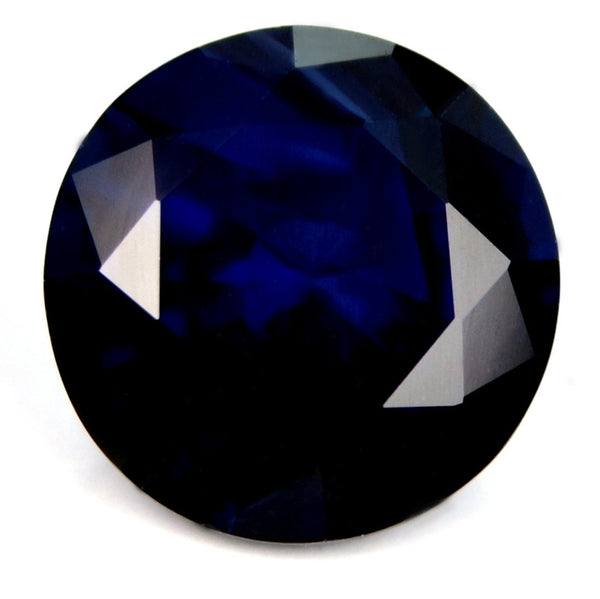 6.42 mm Certified Natural Blue Sapphire - sapphirebazaar - 1