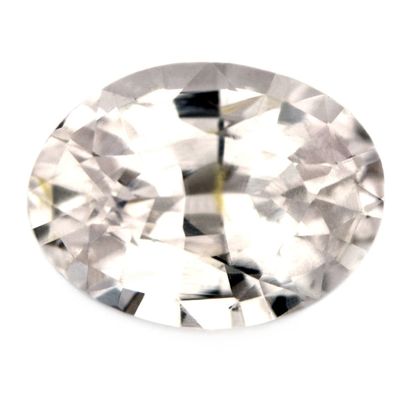 Certified Natural 1.07ct White Sapphire, Oval Cut - sapphirebazaar - 1