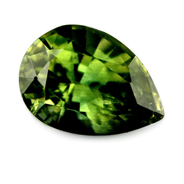 0.92 ct Certified Natural Green Sapphire