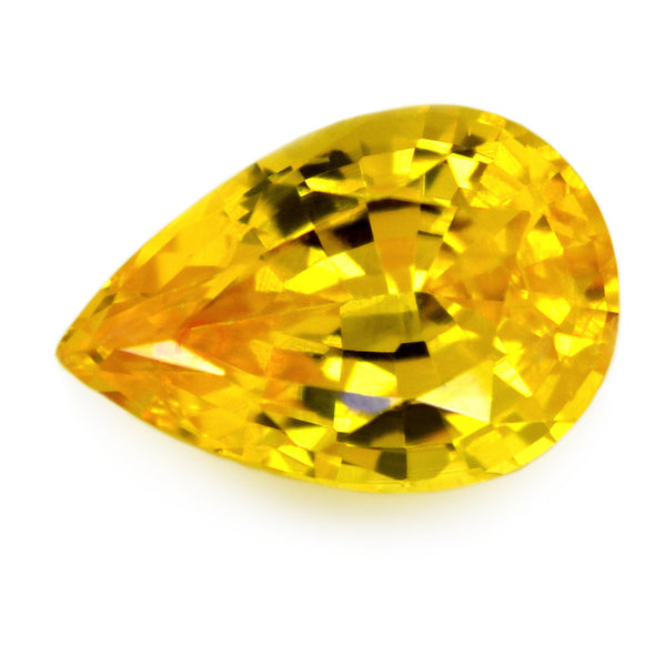 0.90 ct Certified Natural Yellow Sapphire