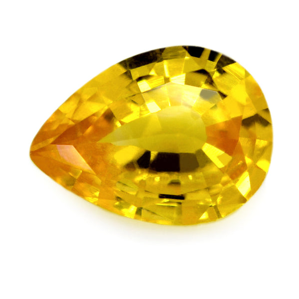 0.64 ct Certified Natural Yellow Sapphire