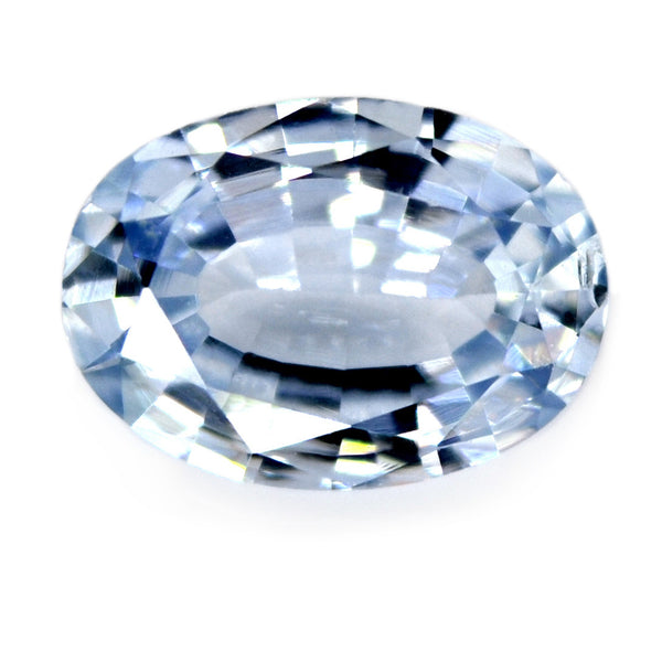 0.80 ct Certified Natural White Sapphire
