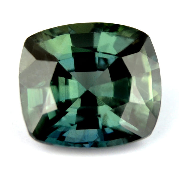 Certified Natural Unheated 1.79ct Green Sapphire VS - sapphirebazaar - 1