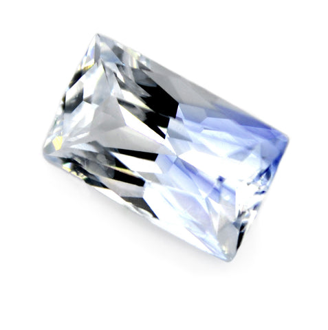 0.89 ct Certified Natural White Sapphire