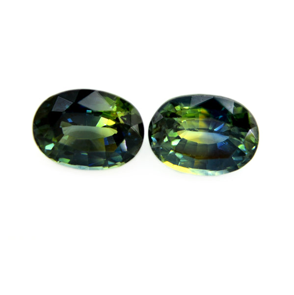 1.94ct Certified Natural Multicolor sapphire Pair