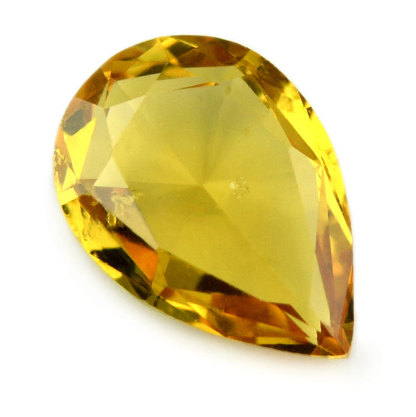 Certified Natural 0.68ct Rose Cut Yellow Sapphire - sapphirebazaar - 1