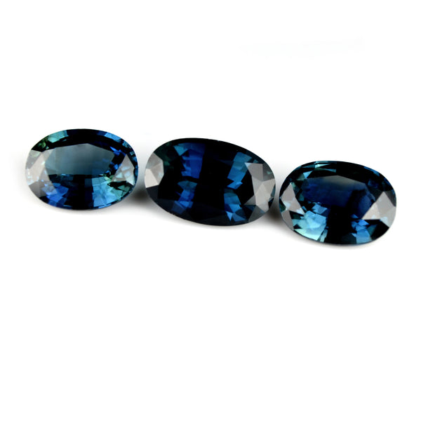 1.91 ct Certified Natural Blue Sapphire Set