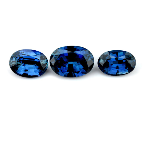 1.70 ct Certified Natural Blue Sapphire Set