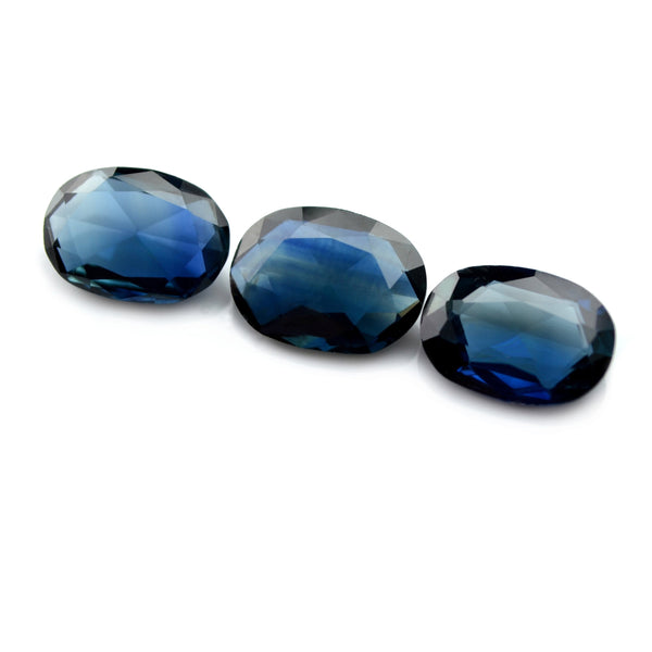 2.45ct Certified Natural Teal Sapphire Matching Set