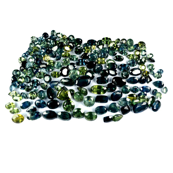 144.50 ct Natural Green Sapphire Parcel