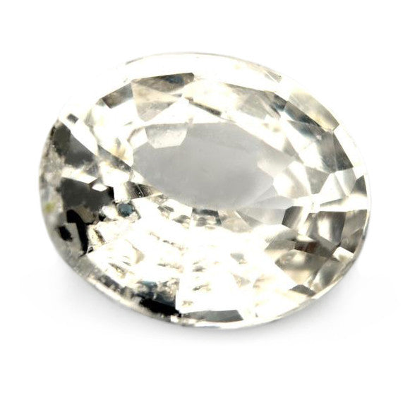 1.61ct Certified Natural White Sapphire