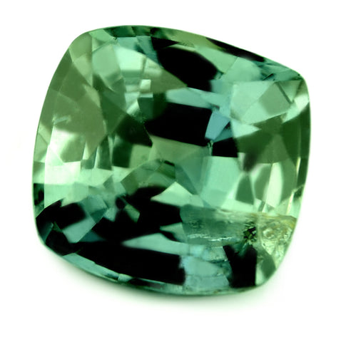 3.18ct Natural Unheated Teal Sapphire Cushion Shape - sapphirebazaar - 2