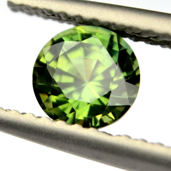 5.50mm Certified Natural Green Sapphire
