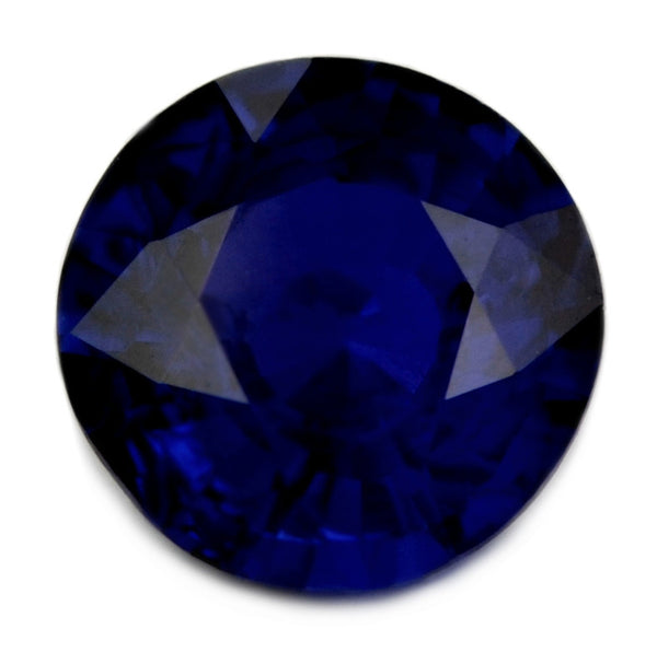 Certified Natural 5.18mm Ceylon Royal Blue Sapphire, 0.60ct Round Shape - sapphirebazaar - 1