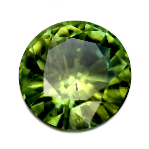 0.68ct Certified Natural Green Sapphire
