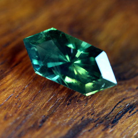 3.76ct Certified Natural Green Sapphire
