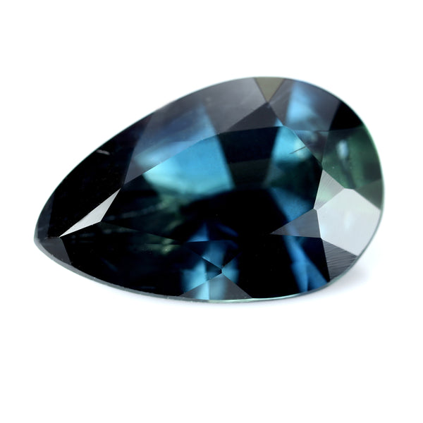 1.42ct Certified Natural Teal Sapphire