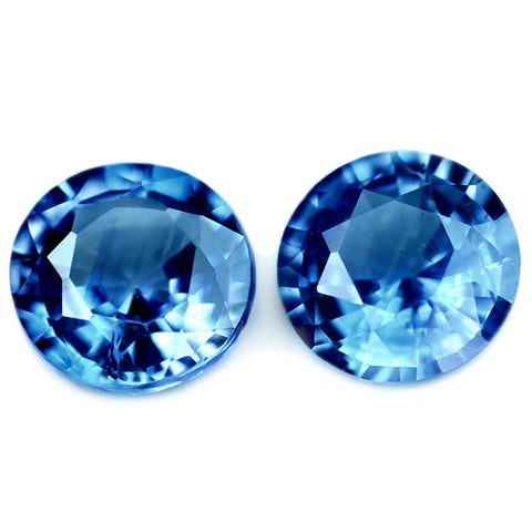 0.56ct Certified Natural Blue Sapphire Matching Pair