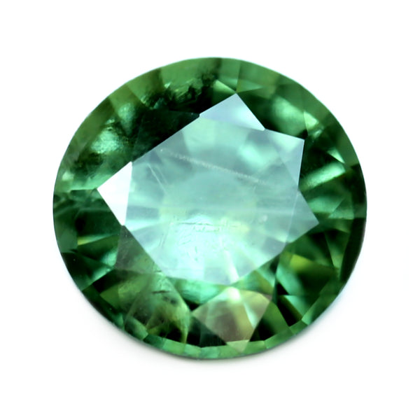 0.71ct Certified Natural Green Sapphire