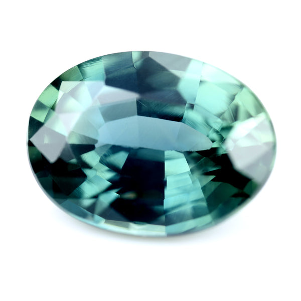 1.37ct Certified Natural Teal Sapphire